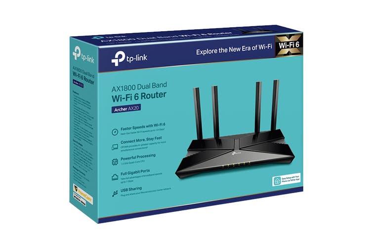 TP-Link AX1800 Wi-Fi 6 Router, Broadcom 1.5GHz Quad-Core CPU (ARCHERAX20)