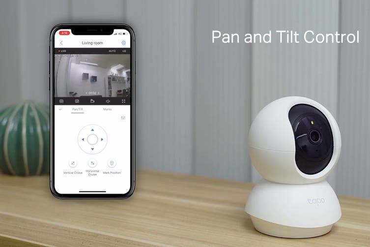 TP-Link 1080P FHD Pan/Tilt Home Security Wi-Fi Camera with Two-Way Audio, Night Vision, Sound/Light Alarm & Motion Detection (Tapo C200) - 2 Pack