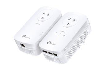 TP-Link AV1300 3-Port Gigabit Passthrough Powerline Starter Kit (TL-PA8033PKIT)