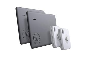 Tile Mate & Tile Slim Bluetooth Tracker (2020) - 4 Pack