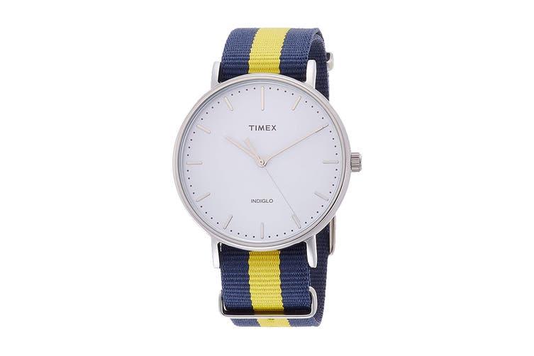 Timex Unisex Weekender Fairfield Watch (Blue/Yellow)