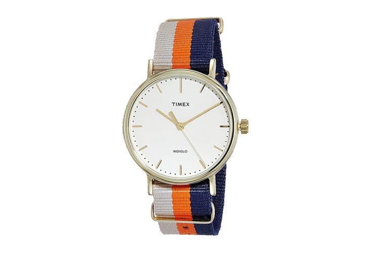 Timex Unisex Weekender Fairfield Watch (White/Red/Blue)