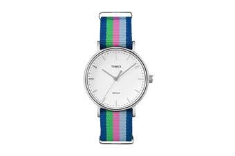 Timex Women's Fairfield Nylon Strap Watch (Blue/Pink/Green)