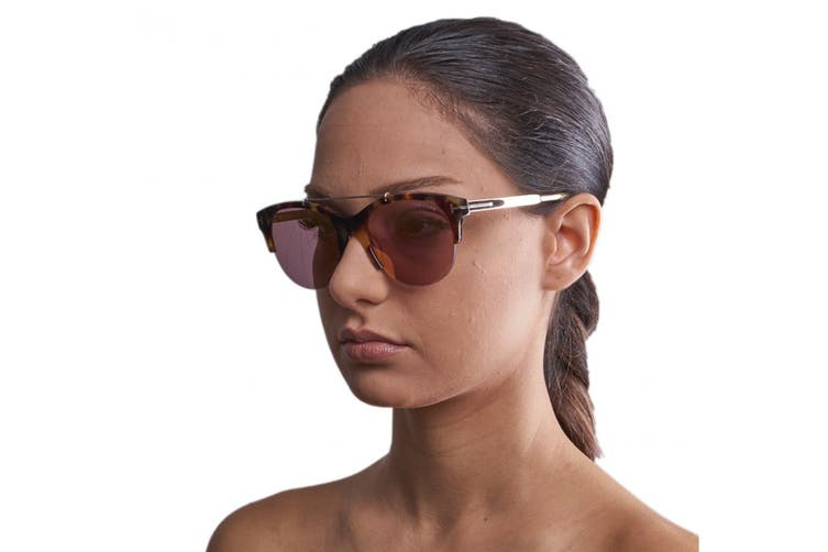 Tom Ford FT0517 Sunglasses (Havana/Other, Size 55-19-140) - Gradient Purple