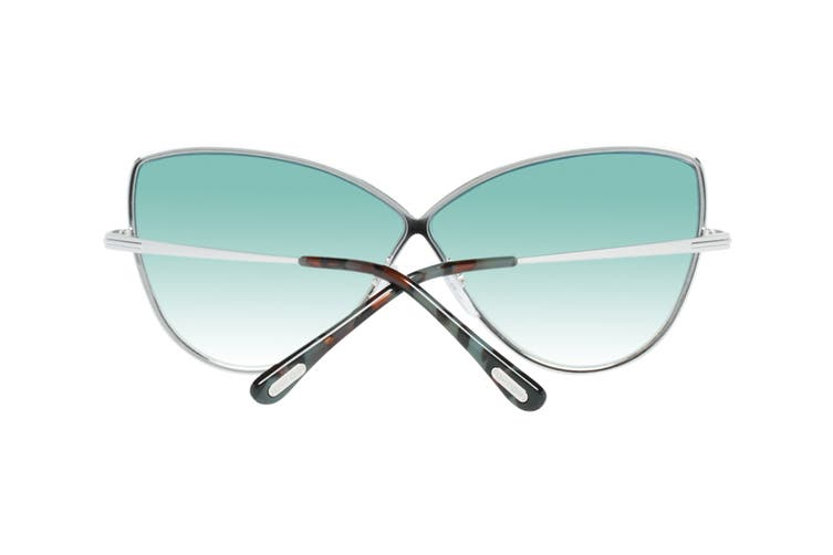 Tom Ford FT0569 Sunglasses (Shiny Palladium, Size 65-05-140) - Blue Gradient