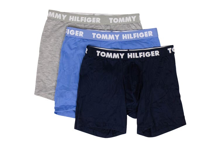 Tommy Hilfiger Men's Boxer Brief (Multi, Size S) - 3 Pack