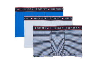 Tommy Hilfiger Men's Cotton Stretch Trunk (Ocean) - 3 Pack
