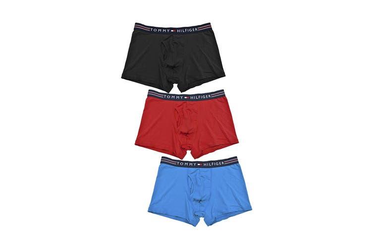 Tommy Hilfiger Men's Stretchpro Trunk Underwear (Red Multi, Size S) - 3 Pack