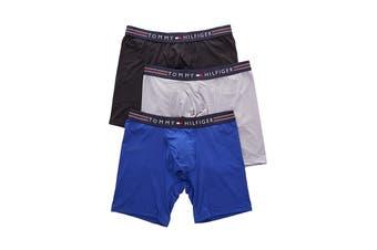 Tommy Hilfiger Men's Stretchpro Boxer Briefs Underwear (Cobalt, Size M) - 3 Pack