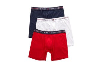 Tommy Hilfiger Men's Stretchpro Boxer Briefs (Mahogany) - 3 Pack