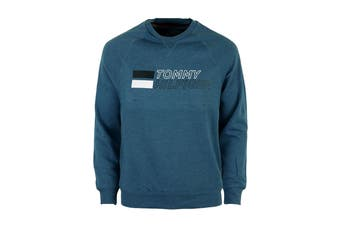 Tommy Hilfiger Men's Brush Back Fleece (Blue Haze)