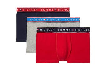 Tommy Hilfiger Men's Cotton Stretch Trunk (Evening Blue) - 3 Pack