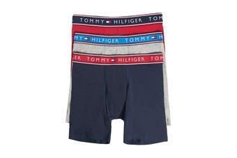 Tommy Hilfiger Men's Cotton Stretch Boxer Brief (Evening Blue) - 3 Pack