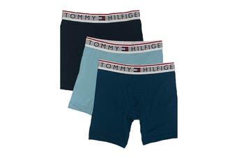Tommy Hilfiger Men's Modern Essentials Boxer Brief (Aquamarine, Size S) - 3 Pack