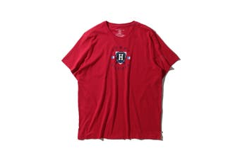 Tommy Hilfiger Men's Graphic Sleep Jersey Lounge Tee (Mahogany, Size L)