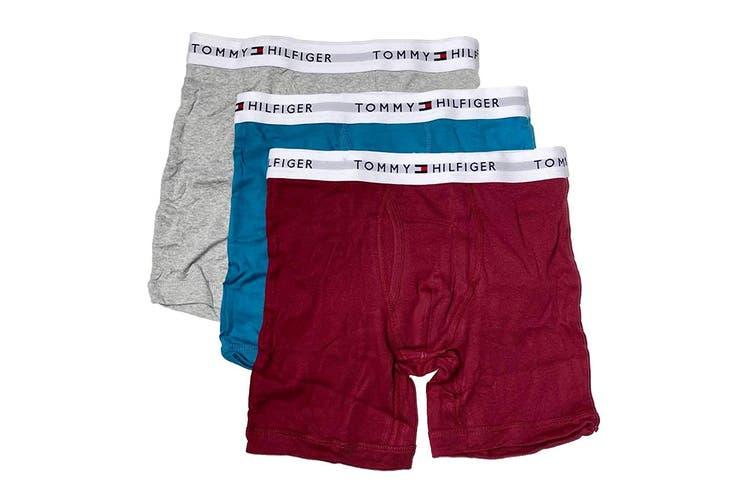 Tommy Hilfiger Men's Cotton Classics Boxer Brief (Tibetan Red, Size XXL) - 3 Pack