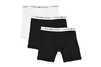 Tommy Hilfiger Men's Cotton Classics Boxer Brief (Ebony, Size XL) - 3 Pack