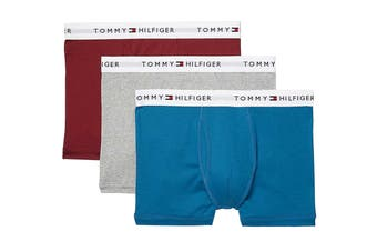 Tommy Hilfiger Men's Cotton Classics Trunk (Tibetan Red) - 3 Pack