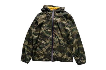 Tommy Hilfiger Men's Essential Hooded Raincoat (Camouflage, Size L)