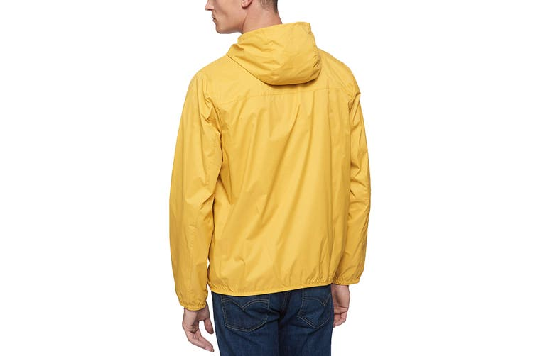 Tommy Hilfiger Men's Essential Hooded Raincoat (Yellow, Size L)