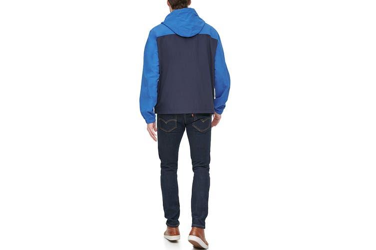 Tommy Hilfiger Men's Taslan Colorblock Water Resistant Hooded Jacket (Blue, Size M)