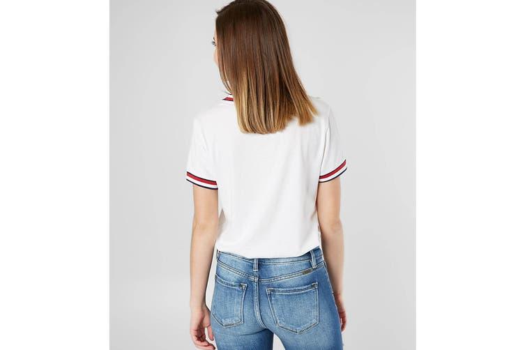 Tommy Hilfiger Women's PJ Tee (Bright White, Size XS)