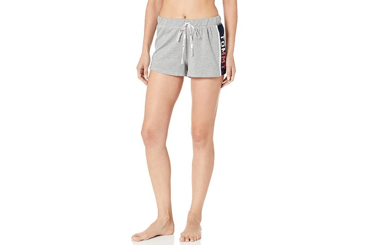 Tommy Hilfiger Women's Varsity Sleep Short (Heather Grey, Size XL)