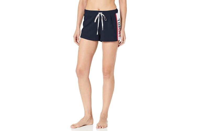 Tommy Hilfiger Women's Varsity Sleep Short (Navy Blazer, Size L)