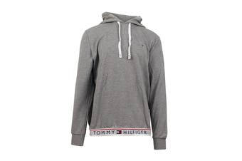 Tommy Hilfiger Men's Modern Essentials Flag Hoodie (Grey Heather)