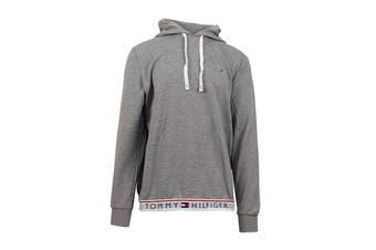 Tommy Hilfiger Men's Modern Essentials Flag Hoodie (Grey Heather)