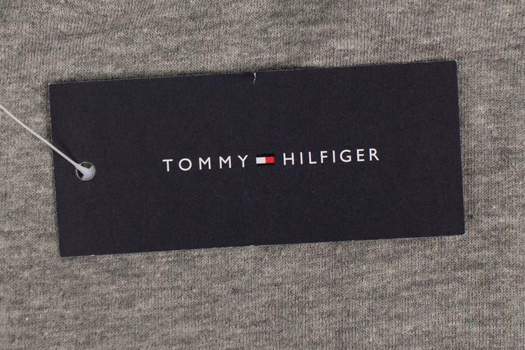 Tommy Hilfiger Men's Modern Essentials Flag Sweatpants (Grey Heather, Size XL)