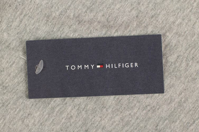 Tommy Hilfiger Men's 1985 Modern Essentials T-Shirt (Grey Heather, Size XL)