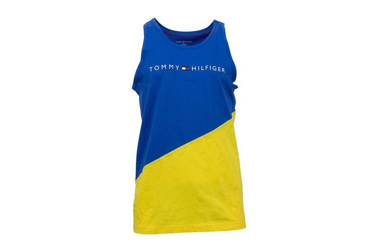Tommy Hilfiger Men's Modern Essentials Tank Top (Canary, Size L)