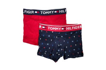 Tommy Hilfiger Men's Bold Cotton Trunks - 2 Pack (New Navy)