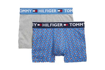 Tommy Hilfiger Men's Bold Cotton Trunks -2 Pack (Blue Frost)