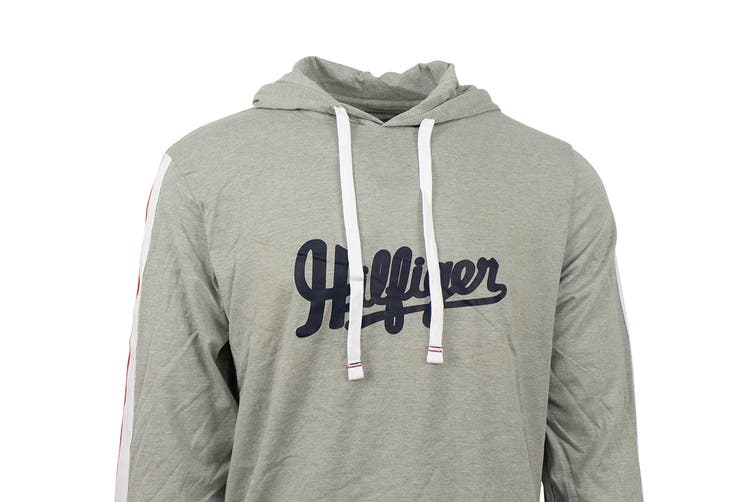 Tommy Hilfiger Men's Modern Essentials Hoodie (Grey Heather, Size XL)