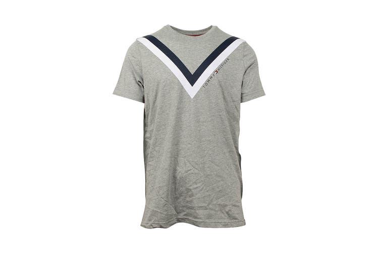 Tommy Hilfiger Men's Modern Essentials T-Shirt (Grey Heather, Size L)