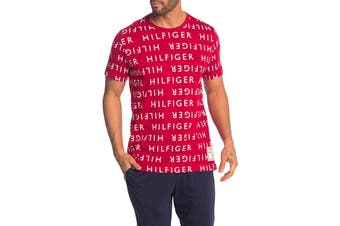 Tommy Hilfiger Men's Modern Essentials Tee (Deep Red)