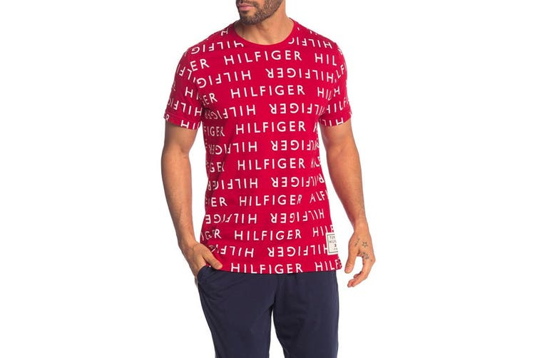 Tommy Hilfiger Men's Modern Essentials Tee (Deep Red, Size M)