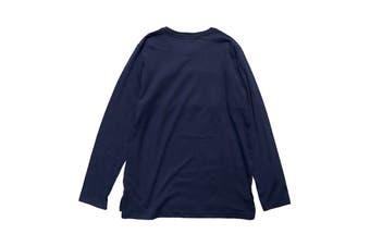 Tommy Hilfiger Men's Block Logo Long Sleeve Tee (Dark Navy)