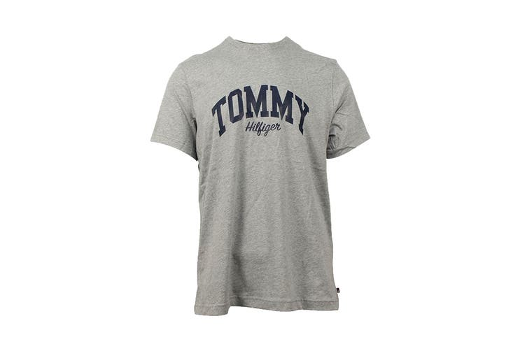 Tommy Hilfiger Men's Graphic Sleepwear Tee (Grey Heather, Size XXL)
