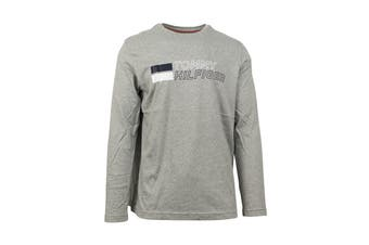 Tommy Hilfiger Men's Long Sleeve Graphic Tee (Grey Heather)
