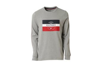 Tommy Hilfiger Men's Op French Terry Long Sleeve Crew (Grey Heather)