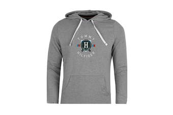 Tommy Hilfiger Men's Op French Terry Long Sleeve Hoodie (Grey Heather)