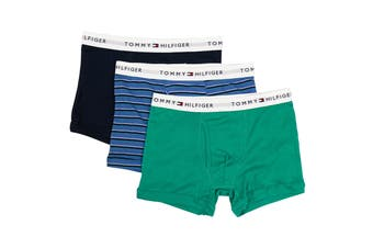 Tommy Hilfiger Men's Cotton Classic Trunks - 3 Pack (Sapphire)