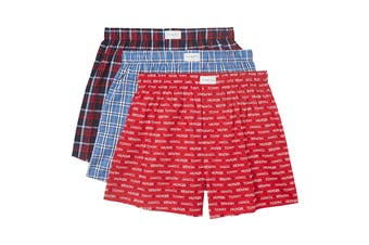 Tommy Hilfiger Men's Cotton Classics Boxers - 3 Pack (Scarlet)