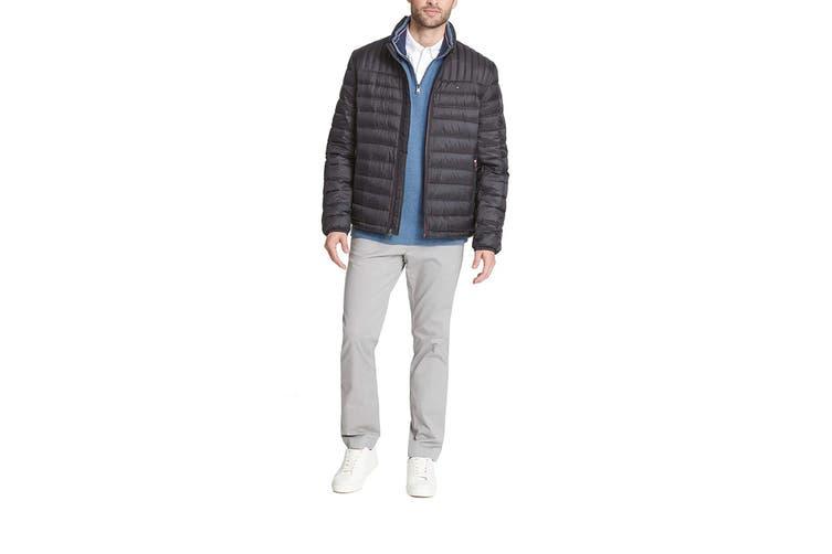 Tommy Hilfiger Men's Ultra Loft Packable Down Jacket (Black, Size S)