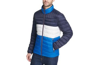 Tommy Hilfiger Men's Ultra Loft Packable Down Jacket (Royal Blue Combo)