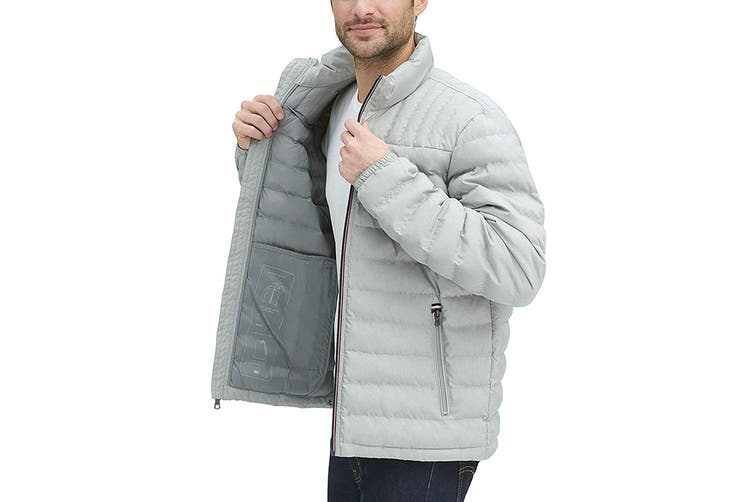 Tommy Hilfiger Men's Ultra Loft Packable Down Jacket (Stone, Size S)