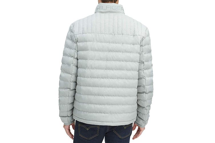 Tommy Hilfiger Men's Ultra Loft Packable Down Jacket (Stone, Size XL)